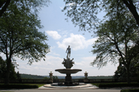Click to enlarge photo of Sculpture set among landscapes of Kykuit